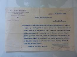 """Lettera Commerciale """"JUTIFICI RIUNITI Stabilimento Di AULLA"""" 22 Ottobre 1934 - Italia"""