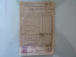 """Ricevuta """"Esattoria Di ROMANO LOMBARDO"""" 15 Ottobre 1929 - Italia"""