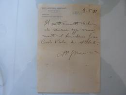 Certificato Medico Dott. GIACOMO MARCIANO' La Spezia 1931 - Manoscritti