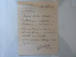 Certificato Medico Dott. CARMELO GALLITTO Napoli 1944 - Manoscritti