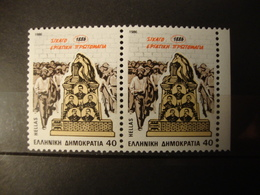 GREECE:1986.100th ANNIVERSARY CHICAGO MAY DAY.HELLAS.1745,MNH  STAMP IN PAIR. - Griechenland