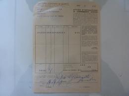 """Ricevuta """"ESATTORIA COMUNALE DI SALERNO AVVISO INTIMAZIONE CONTRIBUENTI MOROSI"""" 1954 - Italia"""
