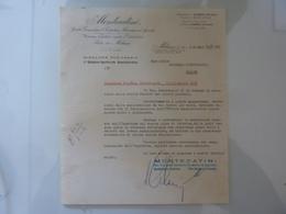 """Lettera Commerciale """"MONTECATINI Direzione Ragioneria"""" 1938 - Italia"""