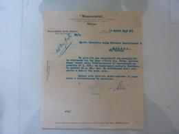 """Lettera Commerciale """"MONTECATINI Direzione Segreteria Generale"""" 1938 - Italia"""