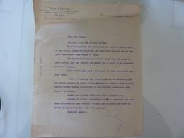 """Lettera Commerciale """"MONTECATINI Gestione Fabbriche"""" 1921 - Italia"""