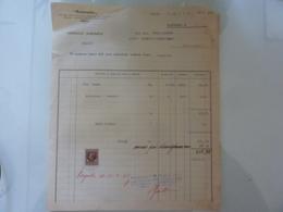 """Fattura  """"MONTECATINI Azienda Agraria Milazzo"""" 1938 - Italia"""