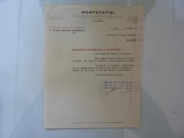 """Lettera Commerciale """"MONTECATINI Direzione Ragioneria"""" 1939 - Italia"""