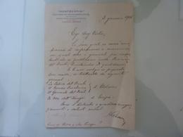 """Lettera Commerciale Manoscritta  """"MONTECATINI Direzione Centrale"""" 1925 - Italia"""