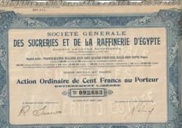 EGYPTE-SUCRERIES ET DE LA RAFFINERIE D'EGYPTE. Sté Générale Des ... - Actions & Titres