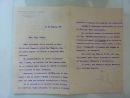 """Lettera Commerciale """"UNIONE ITALIANA  CONSUMATORI E FABBRICANTI DI CONCIMI E PRODOTTI CHIMICI"""" 1920 - Italia"""