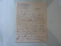 """Lettera Manoscritta """"MONTECATINI Direzione Centrale"""" 1925 - Italia"""