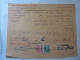 """Fattura """"MONTECATINI Stabilimento Di Pontecagnano ( Salerno )"""" 1940 - Italia"""