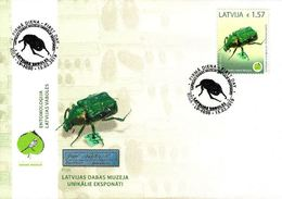 Latvia Lettland Lettonie 2019 (03) Museum Of Natural History - Beetle - Noble Chafer (unaddressed FDC) - Lettonie