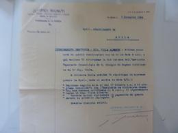 """Lettera  """"JUTIFICI RIUNITI  Stabilimento Di  La Spezia PIGNORAMENTO ESATTORIA - Aulla""""  1934 - Italia"""