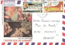 DJIBOUTI Sur Une Lettre Pour OLLIOULES - Djibouti (1977-...)