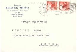 AVV. SENICA TORINO - 6. 1946-.. Repubblica