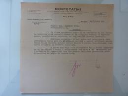 """Lettera  """"MONTECATINI Servizi Economici Del Personale"""" 1943 - Italia"""