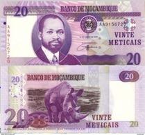 MOZAMBIQUE       20 Meticais       P-143       16.6.2006       UNC - Mozambique