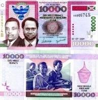 BURUNDI  10000 Francs   P-49a1.7.2009  UNC - Burundi