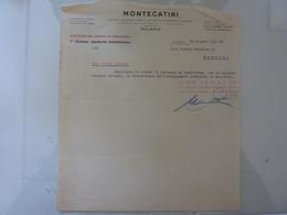 """Lettera """"MONTECATINI Direzione Dei Servizi Di Ragioneria - Fabbrica Di Portici"""" 1942 - Italia"""
