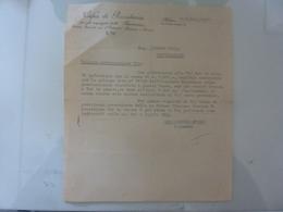"""Lettera """"CASSA DI PREVIDENZA PER GLI IMPIEGATI DELLA  MONTECATINI"""" 1941 - Italia"""