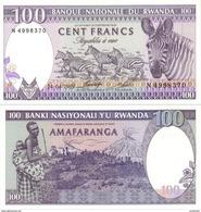RWANDA 100 Francs P 18 1989 UNC - Ruanda