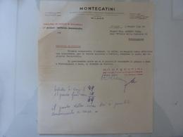 """Lettera """"MONTECATINI Direzione Dei Servizi Di Ragioneria Fabbrica Di Portici"""" 1942 - Italia"""