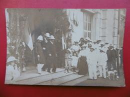 GARE HAIPHONG ARRIVÉE DU ROI THANH THAI ROI D ANNAM CARTE PHOTO 1906 - Viêt-Nam