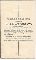 Woumen, Zevekote, 1953, Hermine Van Gheluwe, Boujon - Imágenes Religiosas