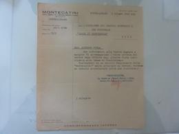 """Lettera """"MONTECATINI Stabilimento Di Pontecagnano  CASSA DI PREVIDENZA"""" 1941 - Italia"""