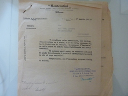 """Due Lettere """"MONTECATINI Fabbrica Di S. Giorgio In Piano"""" 1942 - Italia"""