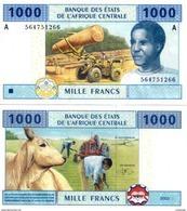 GABON ( Central African States ) P 407A  1000 Francs 2002 UNC - Gabon