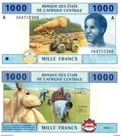 GABON ( Central African States ) P 407A  1000 Francs 2002 UNC - Gabun
