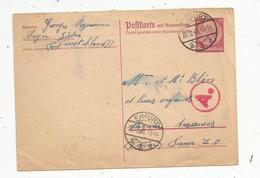 Entier Postal Sur Carte Postale , 15 , Allemagne, ERFURT , 1943 , A. , 2 Scans - Covers & Documents
