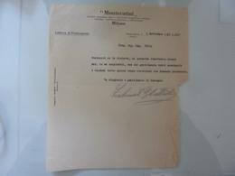 "Lettera ""MONTECATINI Fabbrica Di Pontecagnano"" 1941 - Italia"