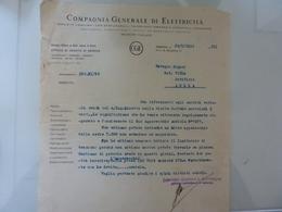 """Lettera """"COMPAGNIA GENERALE DI ELETTRICITA' """" 1934 - Italia"""