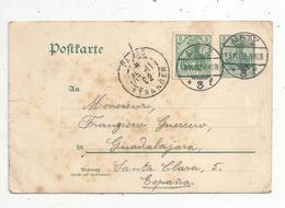 Entier Postal Sur Carte Postale , 5 , Allemagne, METZ ,PARIS ETRANGER ,1902 , 2 Scans - Allemagne