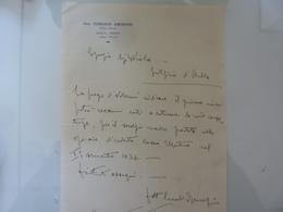 """Lettera Manoscritta """"Dott. CORRADO AMORFINI Medico Chirurgo AULLA - MONTI""""  1938 - Manoscritti"""
