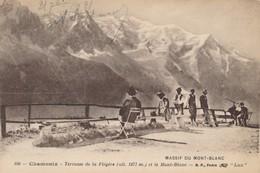 CPA - France - (74) Haute Savoie - Chamonix - Terrasse De La Flégère Et Le Mont Blanc - Chamonix-Mont-Blanc