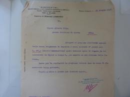 """Lettera Commerciale """"MONTECATINI  Fabbrica Di ROMANO LOMBARDO"""" 1927 - Italia"""