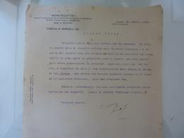 """Lettera Commerciale """"MONTECATINI  Fabbrica Di VERCELLI ( A )"""" 1924 - Italia"""
