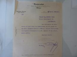 """Lettera Commerciale """"MONTECATINI Segreteria Generale"""" 1935 - Italia"""
