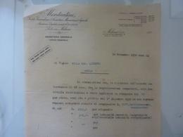 """Lettera Commerciale """"MONTECATINI Segreteria Generale - Ufficio Personale"""" 1930 - Italia"""