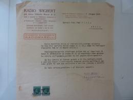 """Lettera Commerciale """"RADIO WIGBERT Ufficio Di VILLAFRANCA LUINIGIANA"""" 1934 - Italia"""