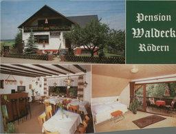 Rödern Bei Kirchberg. Pension Waldeck. Fam. Steffen. Seltene Mehrbild AK Farbig. Gebäudeansicht, Gastraum, Zim - Ansichtskarten