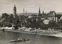 St. Justinuskirche. Frankfurt Am Main - Höchst. Seltene AK S/w. Ortsansicht, Gebäudeansichten, Rhein Mit Prome - Ansichtskarten