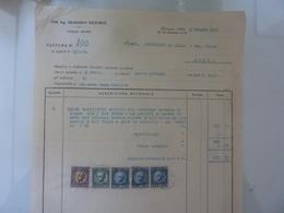 """Fattura """"Dott. Ing. ARMANDO BELFORTE Jutificio Di AULLA"""" 1934 - Italia"""