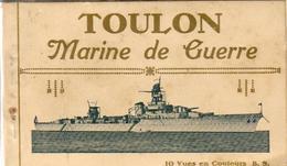 D83  TOULON  MARINE DE GUERRE LOT DE 10 CPA ISSUES D'UN CARNET - Warships