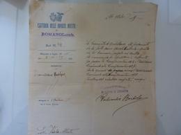 """Lettera """"ESATTORIA DELLE IMPOSTE DIRETTE DI ROMANO LOMBARDO"""" 1929 - Italia"""