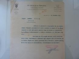 """Lettera Commerciale """"JUTIFICIO DI  SPEZIA"""" 1929 - Italia"""